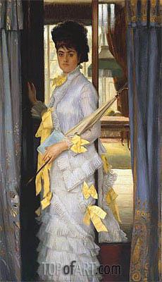A Portrait (Miss Lloyd), 1876 | Joseph Tissot | Gemälde Reproduktion