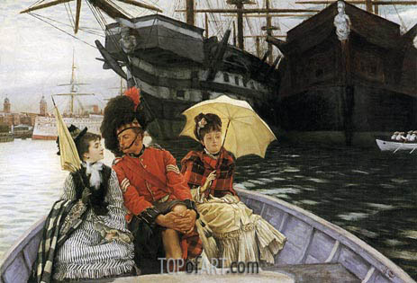 Portsmouth Dockyard, 1877 | Joseph Tissot | Painting Reproduction