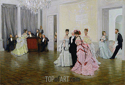 Too Early, 1873 | Joseph Tissot | Painting Reproduction