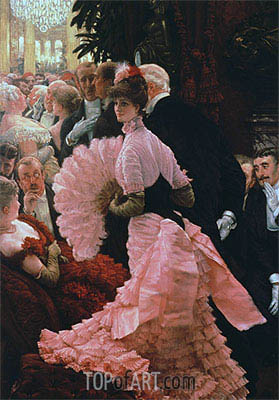 The Political Lady, c.1883/85 | Joseph Tissot | Painting Reproduction