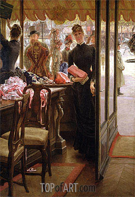 The Shop Girl (The Milliner's Shop), c.1883/85 | Joseph Tissot | Gemälde Reproduktion
