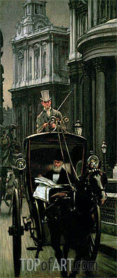 Going to Business (Going to the City), c.1879 | Joseph Tissot | Gemälde Reproduktion