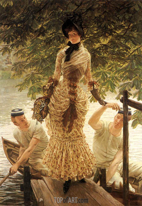 Joseph Tissot | On the Thames, c.1882