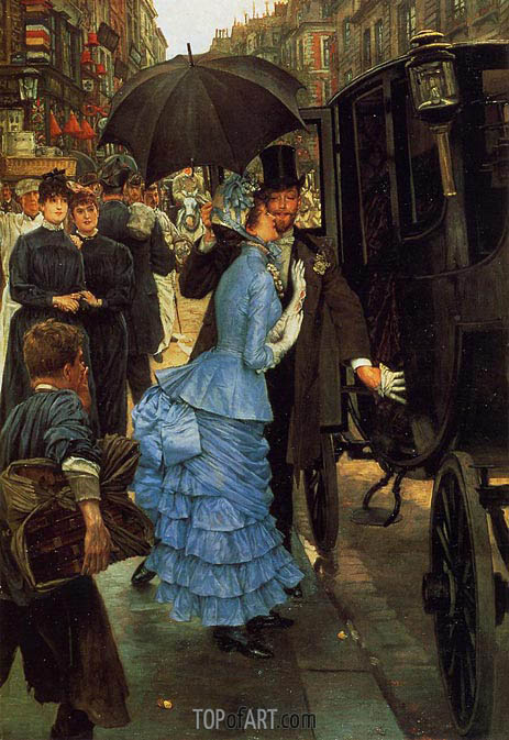 Joseph Tissot | The Traveller (The Bridesmaid), c.1883/85