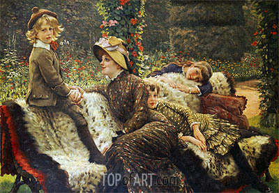 The Garden Bench, c.1882 | Joseph Tissot | Painting Reproduction