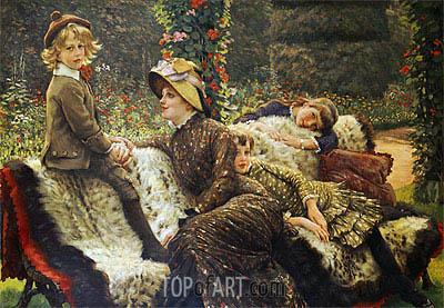 Joseph Tissot | The Garden Bench, c.1882
