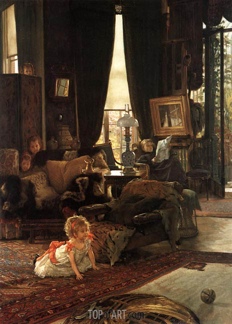 Hide and Seek, c.1880/82 | Joseph Tissot | Gemälde Reproduktion