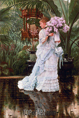 The Bunch of Lilacs, c.1875 | Joseph Tissot| Gemälde Reproduktion