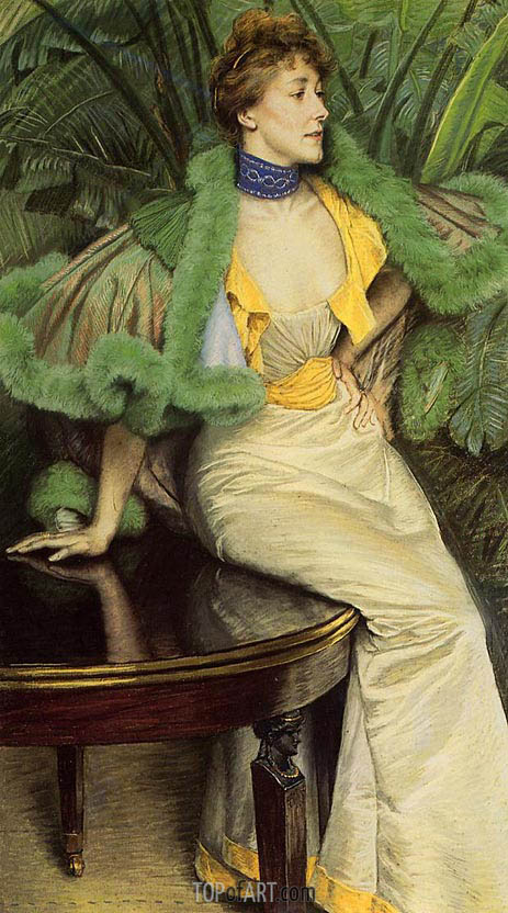 Joseph Tissot | The Princess of Broglie, c.1895