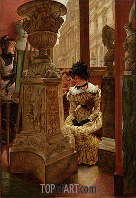In the Louvre, c.1883/85 | Joseph Tissot | Painting Reproduction