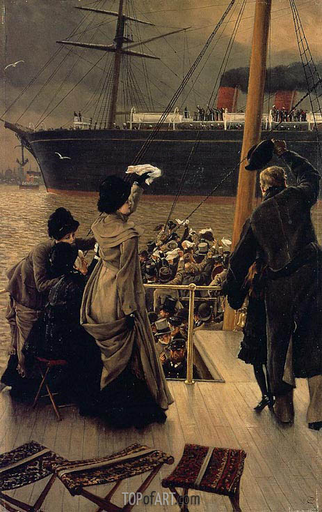Godbye, on the Mersey, c.1881 | Joseph Tissot| Gemälde Reproduktion