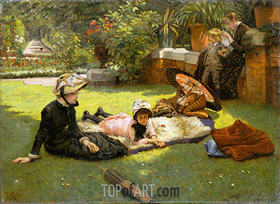 In the Sunshine, c.1881 | Joseph Tissot | Painting Reproduction