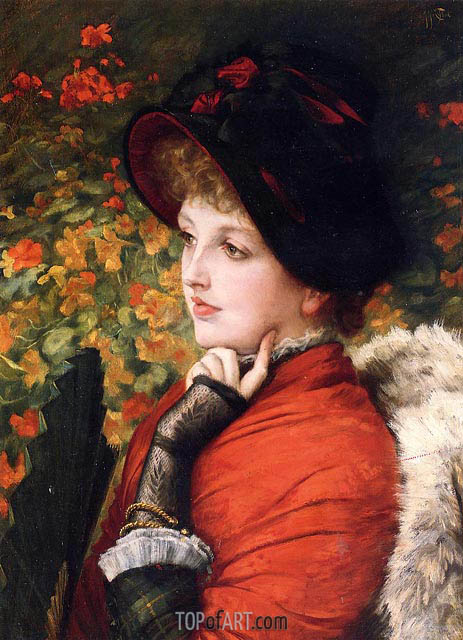 Joseph Tissot | Type of Beauty (Kathleen Newton), 1880
