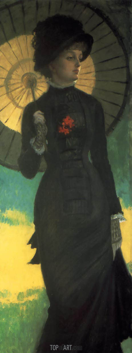Mrs. Newton with a Parasol, c.1879 | Joseph Tissot | Painting Reproduction