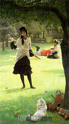 Croquet, c.1878 | Joseph Tissot| Painting Reproduction