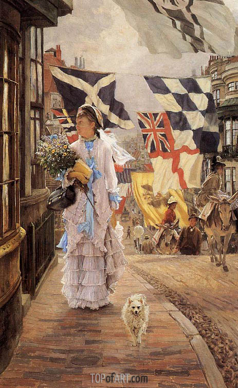 A Fete Day at Brighton, c.1875/78 | Joseph Tissot | Painting Reproduction