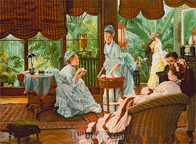Joseph Tissot | In the Conservatory (The Rivals), c.1875/78