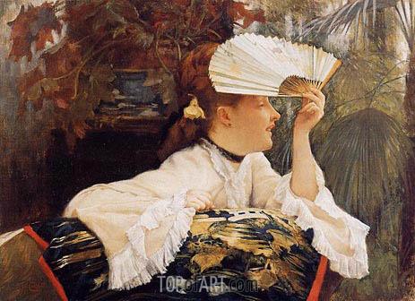 Joseph Tissot | The Fan, c.1875