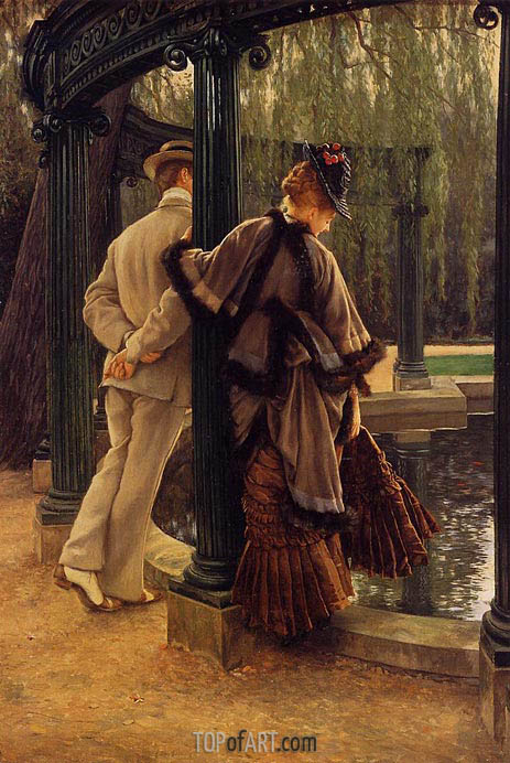 Quarrelling, c.1874/76 | Joseph Tissot | Painting Reproduction