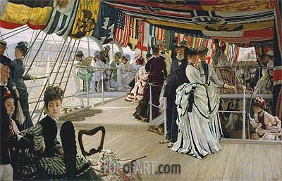 Joseph Tissot | The Ball on Shipboard, c.1874