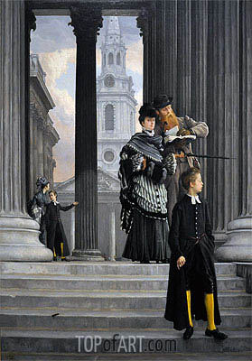 London Visitors, c.1874 | Joseph Tissot| Painting Reproduction