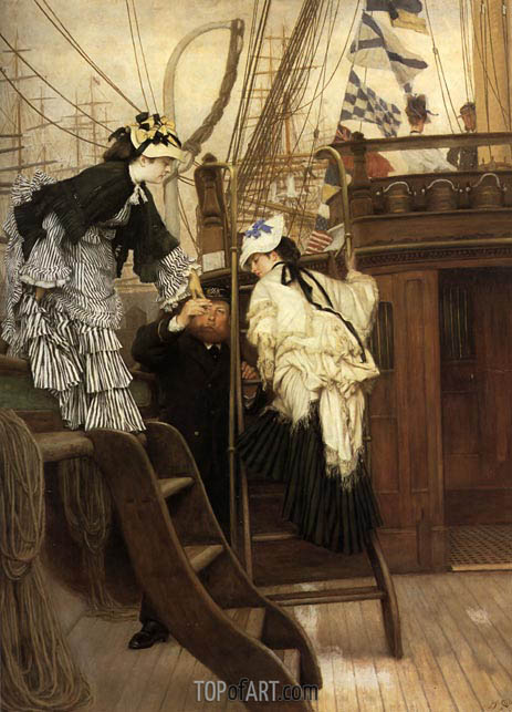 Boarding the Yacht, 1873 | Joseph Tissot | Painting Reproduction