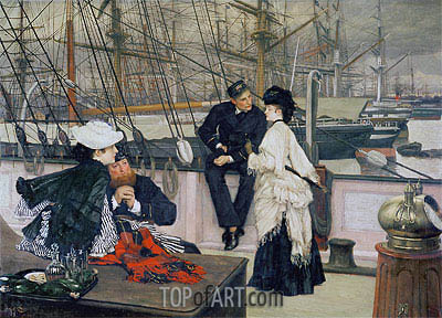 The Captain and the Mate, 1873 | Joseph Tissot | Painting Reproduction