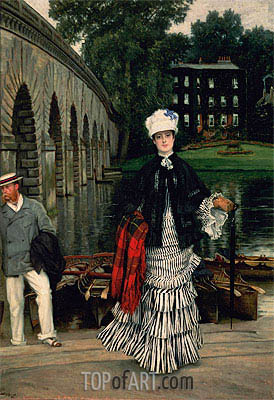 The Return from the Boating Trip, 1873 | Joseph Tissot | Painting Reproduction