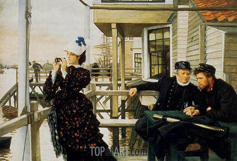 The Captain's Daughter, 1873 | Joseph Tissot| Painting Reproduction