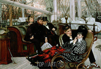 The Last Evening, 1873 | Joseph Tissot | Gemälde Reproduktion