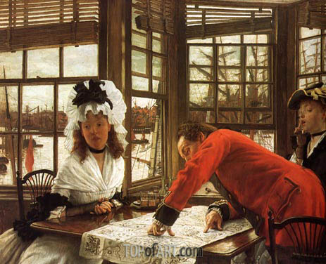 An Interesting Story, 1872 | Joseph Tissot | Painting Reproduction