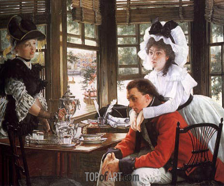 Bad News, The Parting, 1872 | Joseph Tissot | Painting Reproduction