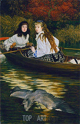 On the Thames - A Heron, c.1871/72 | Joseph Tissot | Painting Reproduction