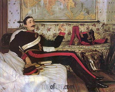 Joseph Tissot | Captain Frederick Gustavus Burnaby, 1870