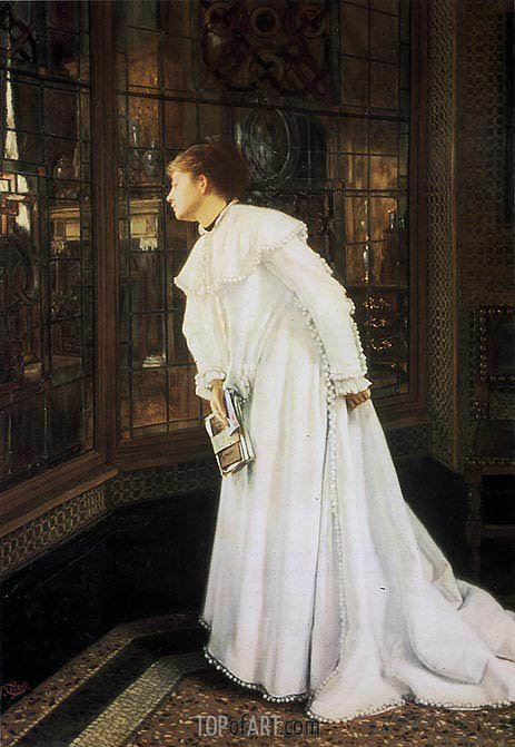 The Stairs (The Staircase), 1869 | Joseph Tissot | Painting Reproduction