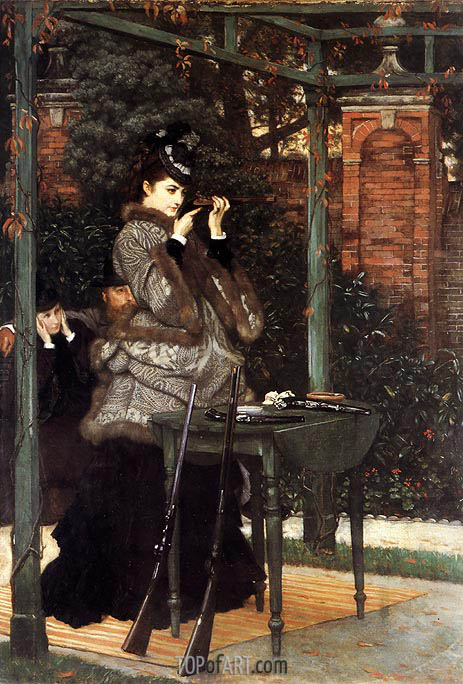At the Rifle Range, 1869 | Joseph Tissot | Painting Reproduction