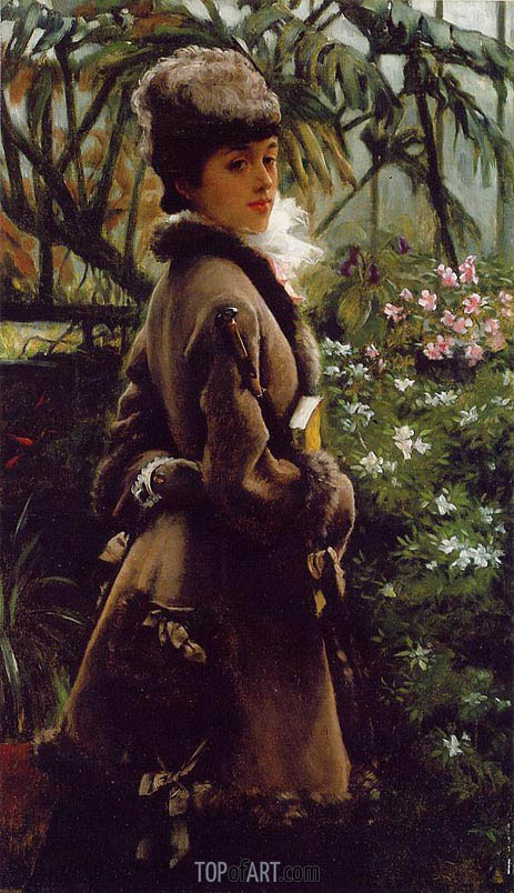 Dans la Serre (In the Greenhouse), c.1867/69 | Joseph Tissot | Gemälde Reproduktion