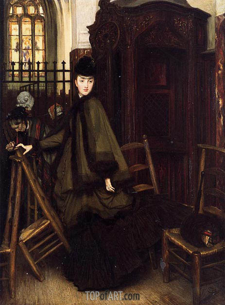 Joseph Tissot | In Church, c1865/69