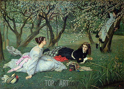 Spring, 1865 | Joseph Tissot | Painting Reproduction
