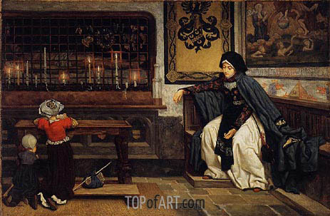 Marguerite in Church, c.1860 | Joseph Tissot | Painting Reproduction