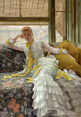 July: Specimen of a Portrait (Sea-Side), c.1878 | Joseph Tissot | Gemälde Reproduktion