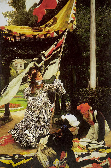 Still on Top, c.1874 | Joseph Tissot | Painting Reproduction