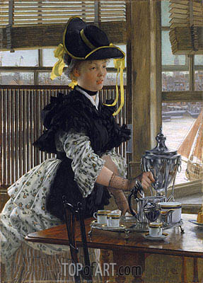 Tea Time, 1872 | Joseph Tissot| Painting Reproduction