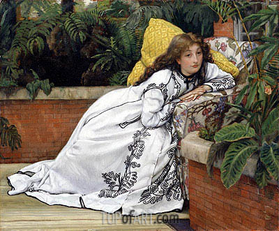A Girl in an Armchair (The Convalescent), 1872 | Joseph Tissot | Painting Reproduction