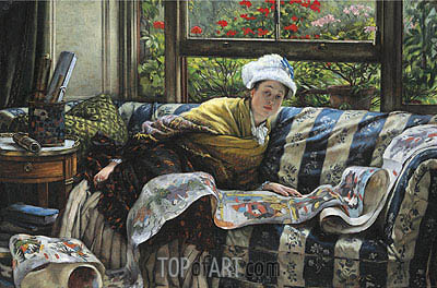 The Japanese Scroll,  | Joseph Tissot | Painting Reproduction
