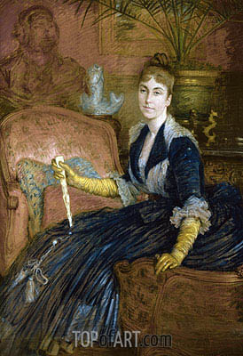 Portrait of Marie-Heloise Jeanne Ferre May,  | Joseph Tissot | Painting Reproduction