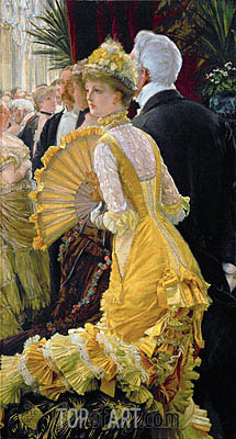 The Ball, c.1885 | Joseph Tissot| Gemälde Reproduktion