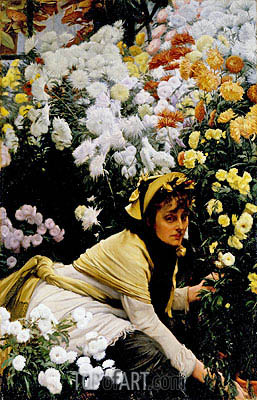 Chrysanthemums, c.1874/75 | Joseph Tissot| Painting Reproduction