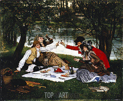 Partie Carree, 1870 | Joseph Tissot | Painting Reproduction