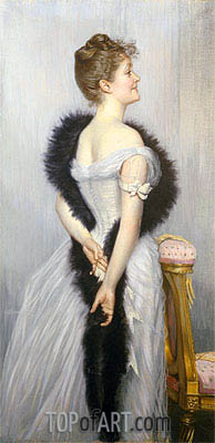 Joseph Tissot | Portrait of the Vicomtesse de Montmorand, 1889